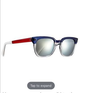 Sheriff & Cherry Mirrored Colorblock Sunglasses
